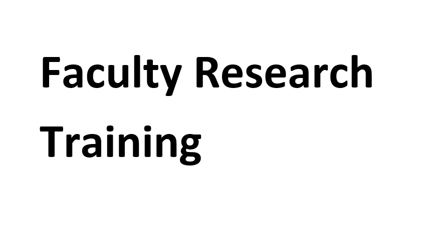 Faculty Research training – 2020