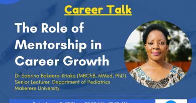 Career Talk – Dr. Sabrina Bakeera-Kitaka