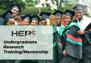 Undergraduate Research Training/Mentorship